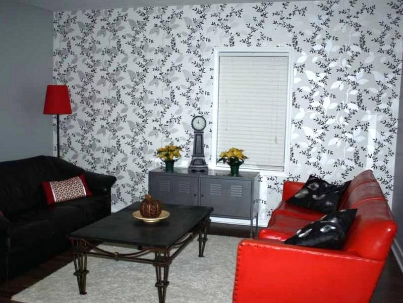 Ruang Tamu Guna Wallpaper Desainrumahid