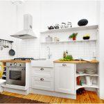 Desain Dapur Minimalis Mungil Sederhana Modern Elegant Type 2x2 Warna Cat putih Terbaru
