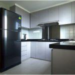 Desain Dapur Minimalis Mungil Sederhana Modern Warna Cat Abu Abu Type 3x3 Dapur Minimalis Terbuka Terbaru