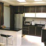 Desain Dapur Minimalis Mungil Sederhana Modern Warna Cat Hitam Type 2x3 Dapur Minimalis Terbuka Terbaru