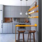 Desain Dapur Minimalis Mungil Sederhana Modern Warna Cat Krem Terbaru
