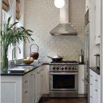 Desain Dapur Minimalis Mungil Sederhana Modern klasik Type 2x2 Warna Cat Putih Terbaru