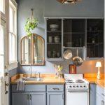 Desain Dapur Minimalis Mungil Sederhana Type 2x2 Warna Cat Abu Abu Terbaru