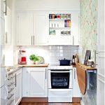 Desain Dapur Minimalis Mungil Sederhana Type 2x2 Warna Cat Putih Terbaru