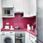 Desain Dapur Minimalis Mungil Sederhana Type 2x2 Warna Cat Ungu Putih Terbaru