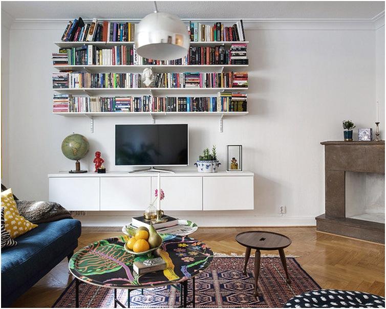 Desain Ruang tamu sempit minimalis kecil mungil mewah terbaru