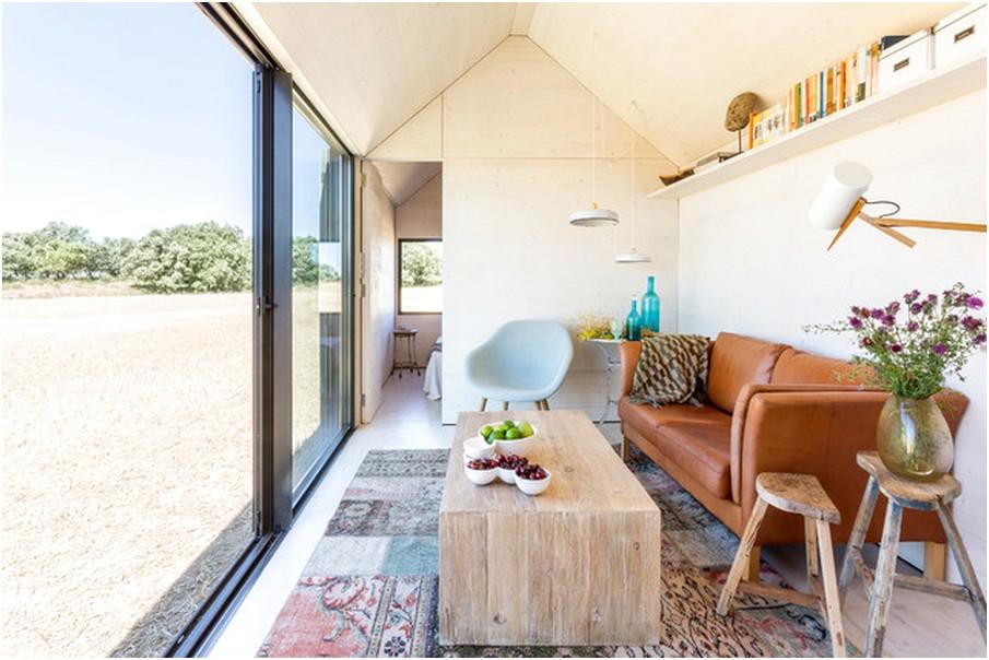 Desain Ruang tamu sempit minimalis kecil unik modern sederhana terbaru