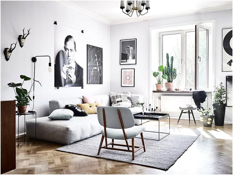 Desain Ruang tamu sempit minimalis unik cantik terbaru