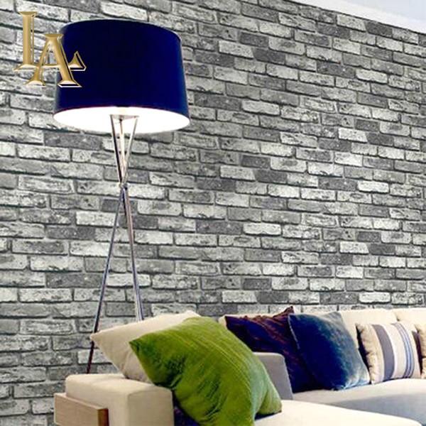 Desain Wallpaper Dinding Ruang Tamu Minimalis Sederhana Motif Batu Bata Elegan Mewah Terbaru