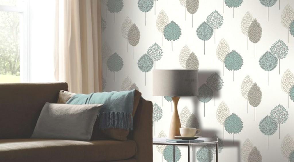 Desain Wallpaper Dinding Ruang Tamu Minimalis Sederhana Motif Bunga Warna Asri Elegan Mewah Nyaman Klasik Terbaru