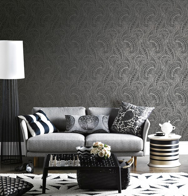 Desain Wallpaper Dinding Ruang Tamu Minimalis Kecil Klasik Sederhana Nyaman Mempesona Indah Elegan Mewah Terbaru