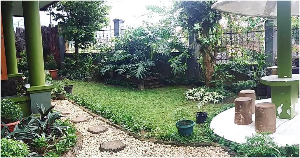 Desain mewah taman depan rumah minimalis sederhana modern lahan sempit terbaru