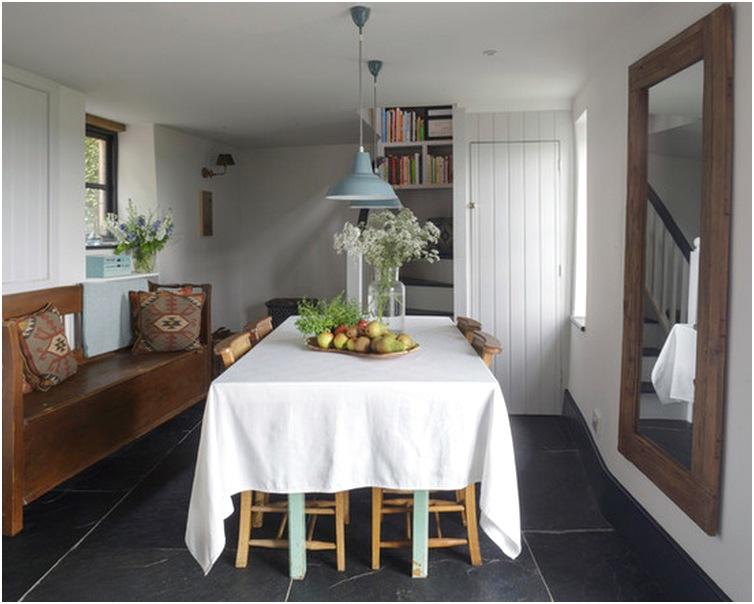 Desain ruang makan dan dapur minimalis kecil mewah biasa sederhana