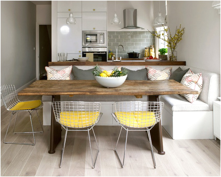 Desain Ruang Makan Dan Dapur Minimalis Terbuka Sederhana Mewah