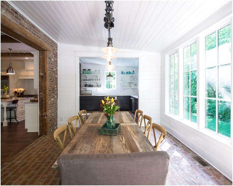 Desain ruang makan dan dapur minimalis terbuka sederhana
