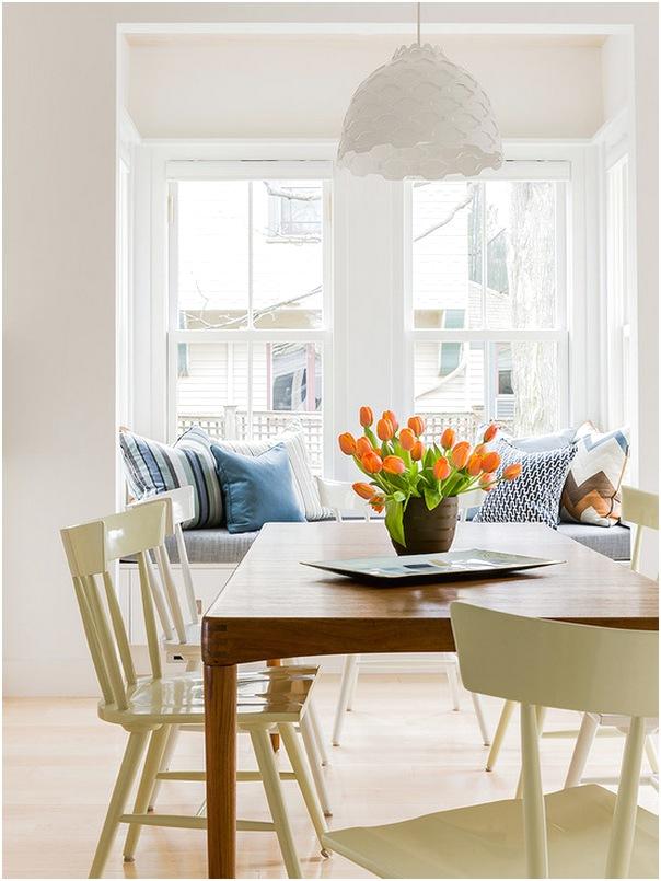 Desain ruang makan dan ruang keluarga minimalis mewah biasa sederhana