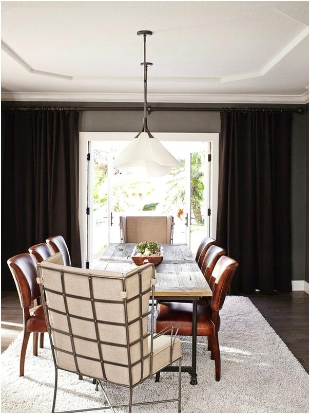 Desain ruang makan kecil mewah terbaru