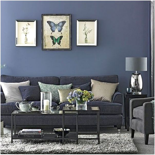 Desain ruang tamu minimalis kecil mungil sempit sederhana mewah unik biasa warna biru 3x3 terbaru
