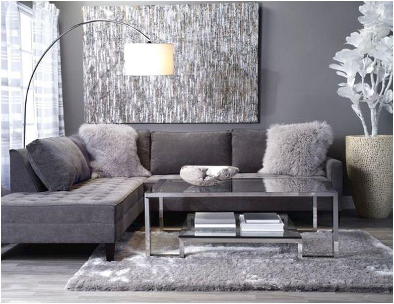 Desain ruang tamu minimalis kecil sempit mungil sederhana mewah unik biasa warna abu abu terbaru