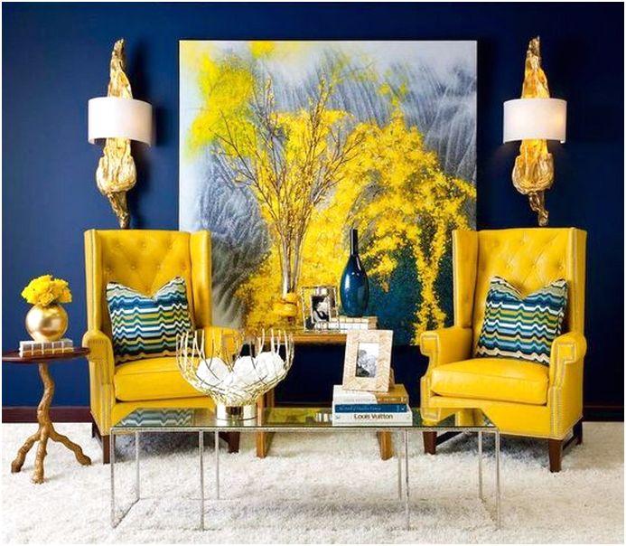 Tema Ruang Tamu Kuning Desainrumahid
