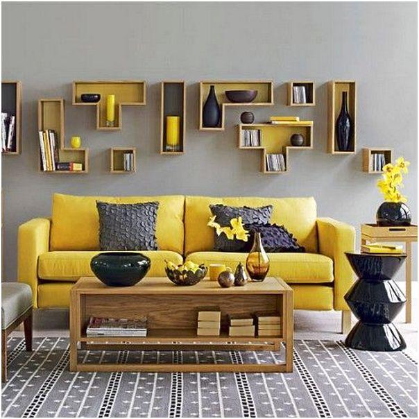 Desain ruang tamu minimalis mungil sempit unik mewah sederhana biasa warna kuning 3x3 terbaru