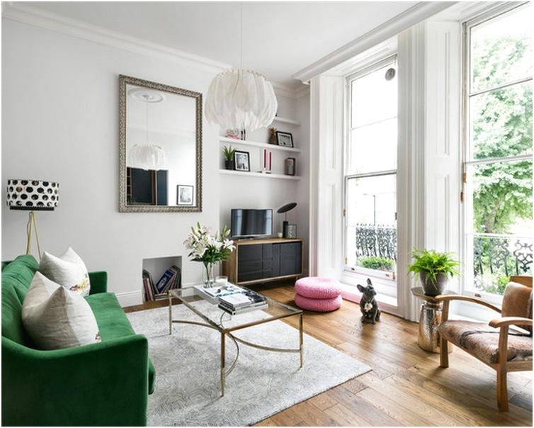 Desain ruang tamu sempit minimalis mungil unik mewah sederhana terbaru