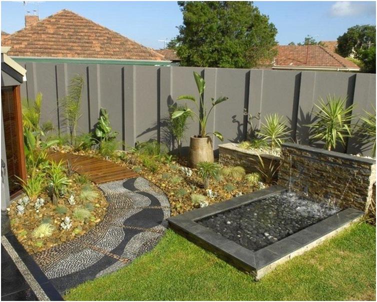 Desain taman kecil depan rumah sederhana modern unik terbaru