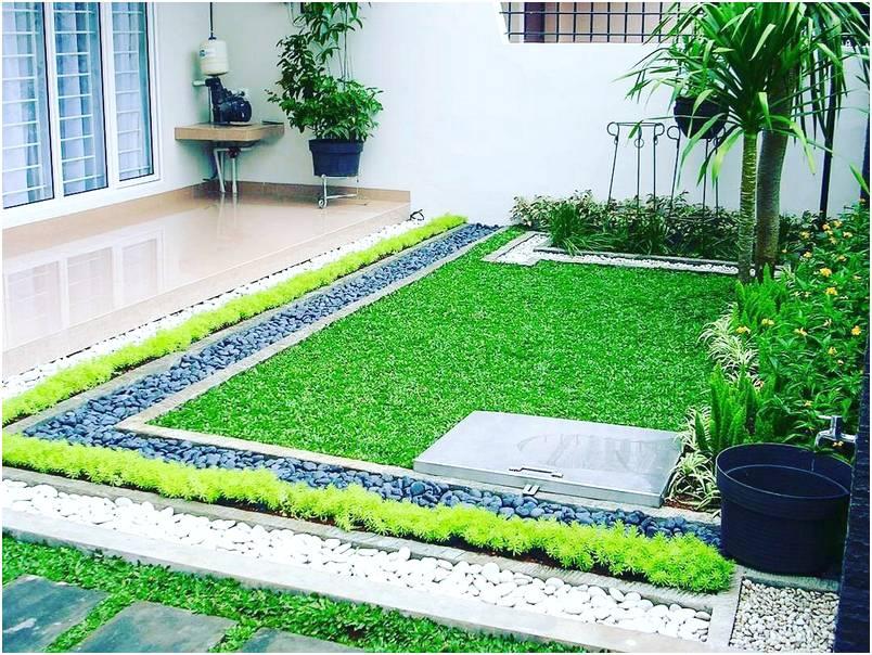 Desain taman rumah lahan sempit modern terbaru