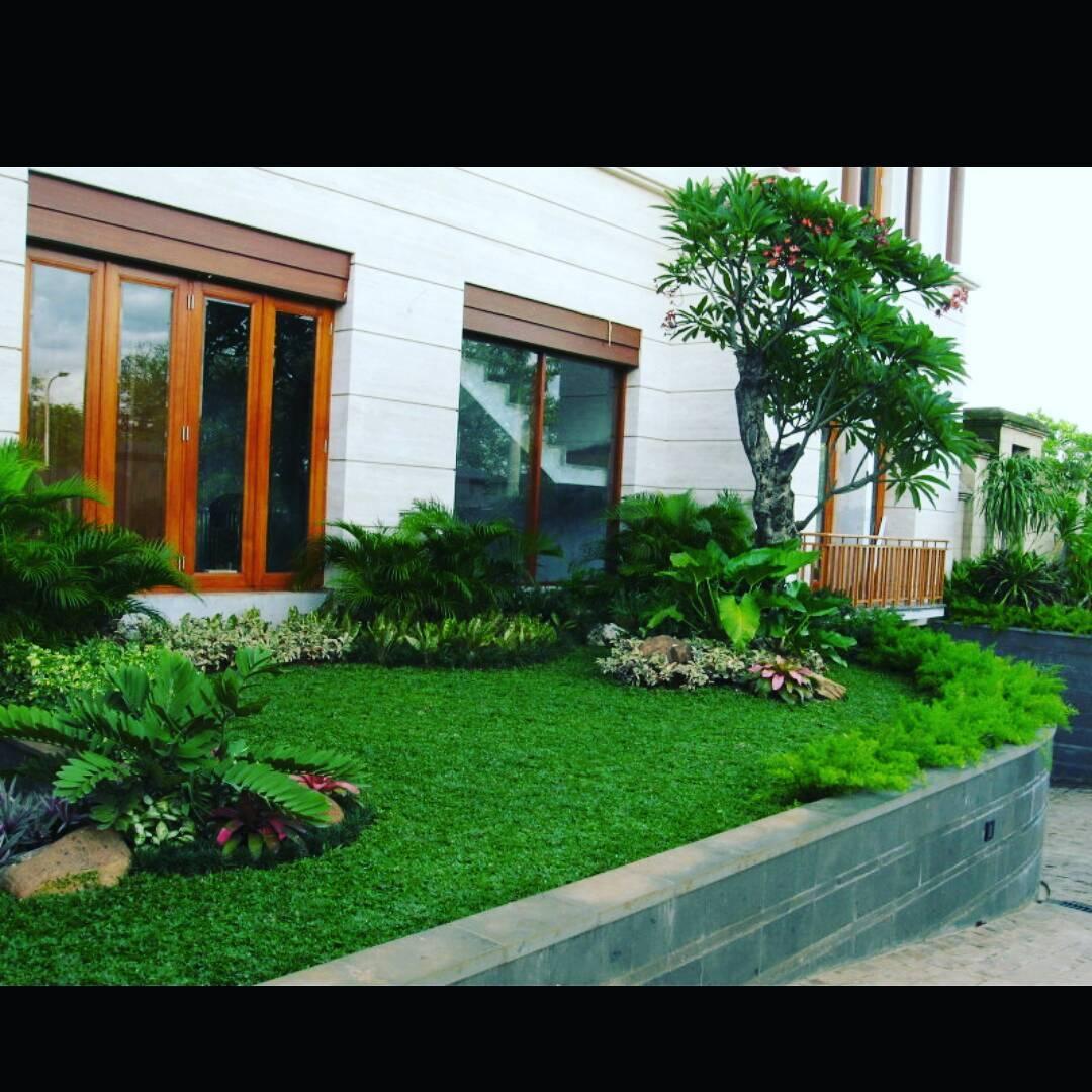 Desain terbaru taman depan rumah kecil modern mungil