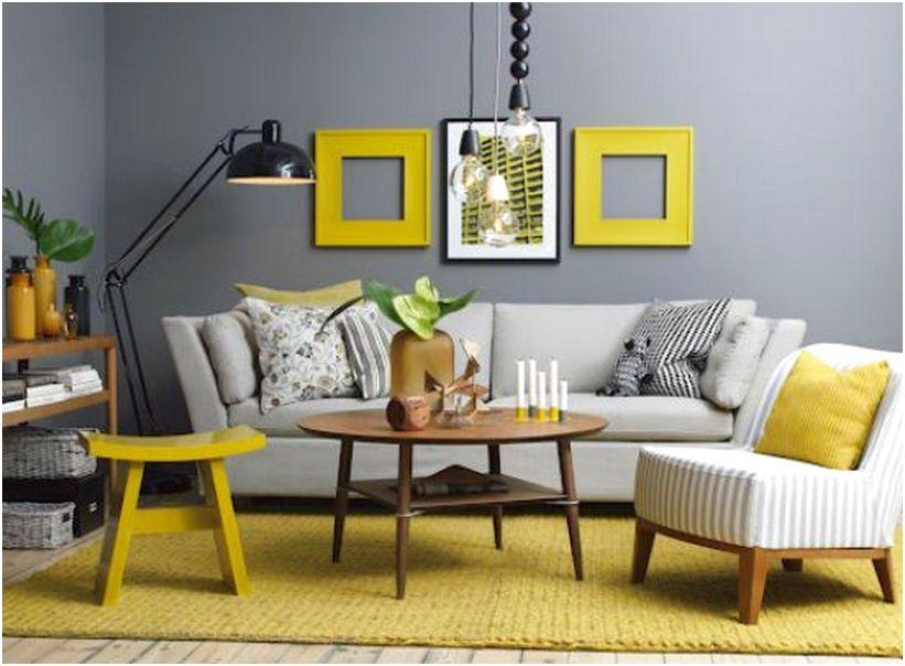 Desain unik ruang tamu minimalis mungil sempit mewah sederhana biasa warna kuning 3x3 terbaru