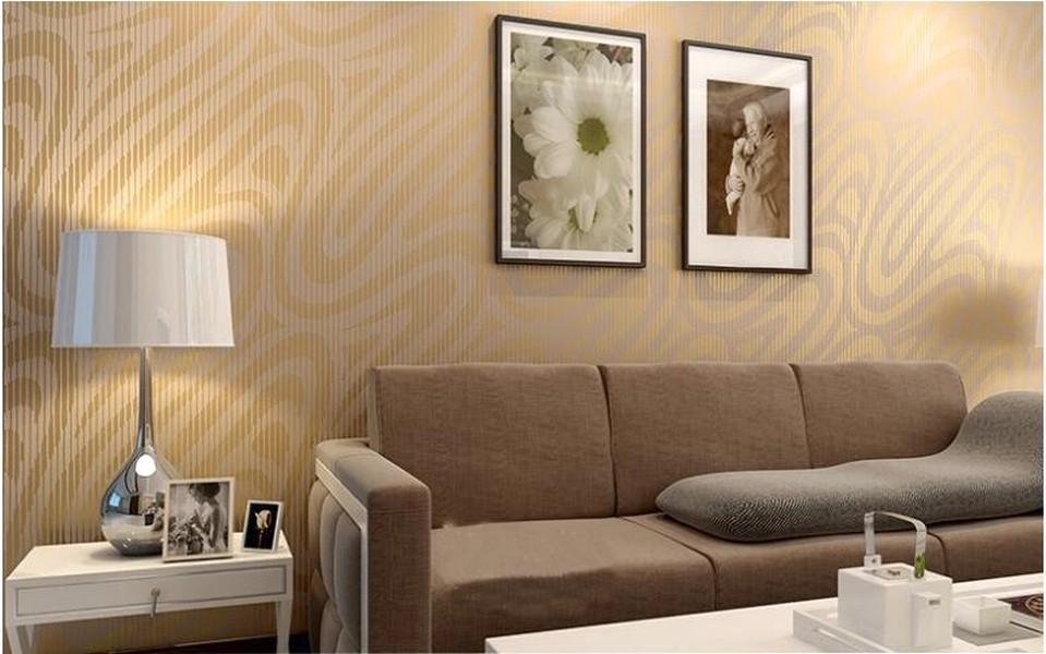 Elegan Ide Desain Wallpaper Dinding Ruang Tamu Minimalis Motif Cokelat Indah Mempesona Cantik Mewah Terbaru