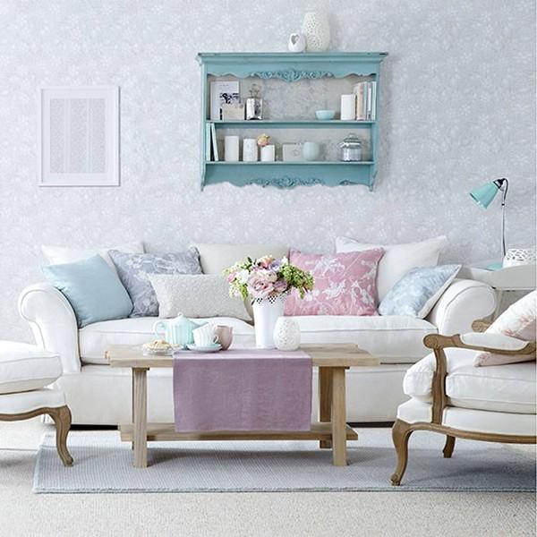 Ide Desain Wallpaper Dinding Ruang Tamu Minimalis Sederhana Motif Bunga Nyaman Elegan Mempesona Cantik Mewah Terbaru