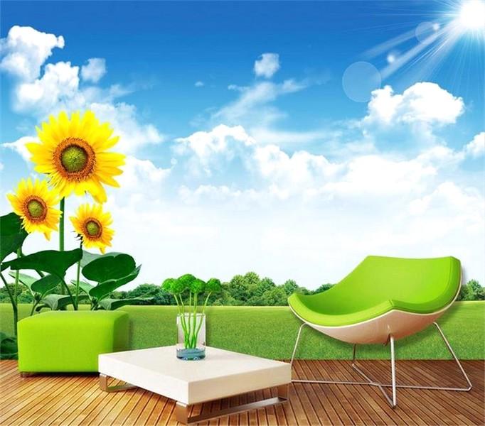 Ide Terbaik Desain Wallpaper Dinding Ruang Tamu Minimalis Motif Pemandangan Alam Warna Hijau Elegan Mewah Nyaman Asri Modern Terbaru