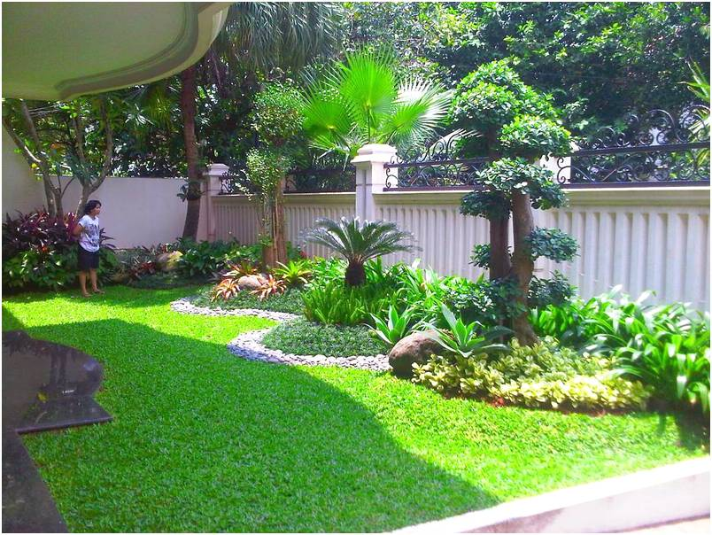 20 Elegant Taman Minimalis Halaman Depan Rumah Taman