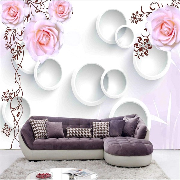 Konsep Wallpaper Dinding Ruang Tamu Minimalis Mewah Motif 3D Bunga Nyaman Elegan Mempesona Cantik Terbaru
