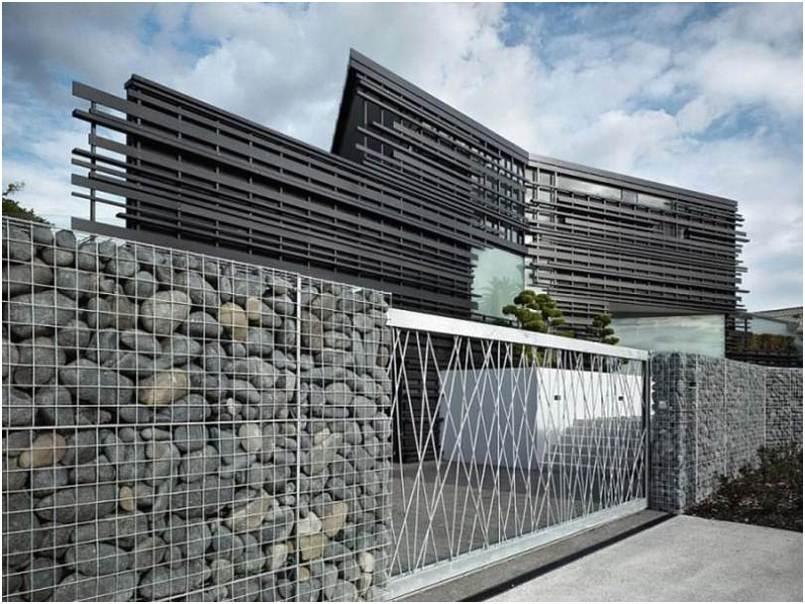 Mempesona model desain pagar rumah minimalis batu alam mewah modern terbaru unik