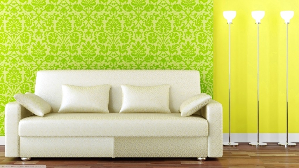 Menarik Ide Desain Wallpaper Dinding Ruang Tamu Minimalis Motif Pohon Warna Hijau Elegan Mewah Nyaman Asri