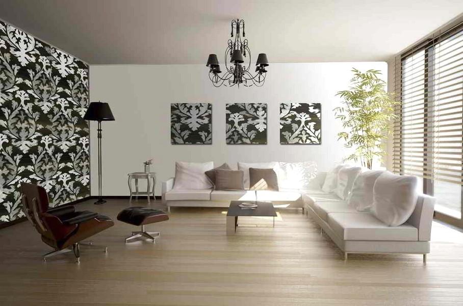 Mewah Desain Wallpaper Dinding Ruang Tamu Minimalis Elegan Terbaru