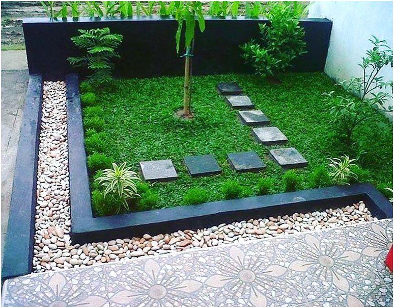 Model taman depan rumah minimalis sederhana modern lahan sempit terbaru