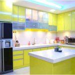 Modern Desain Dapur Minimalis Mungil Sederhana Dapur Minimalis Terbuka Type 2x2 Warna Cat HijauTerbaru