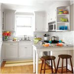 Modern Desain Dapur Minimalis Mungil Sederhana Dapur Minimalis Terbuka Type 2x3 Warna Cat Putih Terbaru