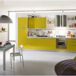 Modern Desain Dapur Minimalis Mungil Sederhana Dapur Terbuka Type 2x3 Warna Cat HijauTerbaru