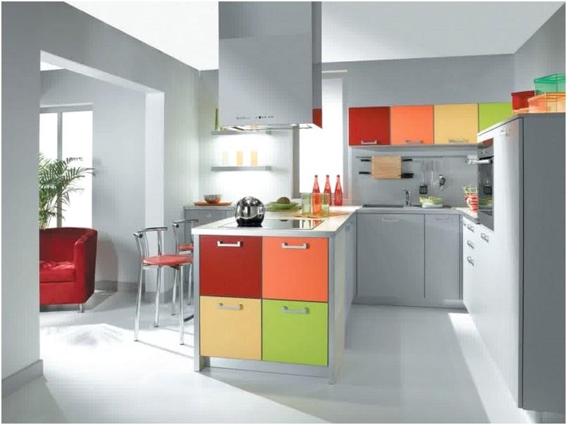 Modern Desain Dapur Minimalis Mungil Sederhana Terbuka Elegant Type 3x3 Warna Cat Abu Terbaru