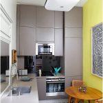 Modern Desain Dapur Minimalis Mungil Sederhana Type 2x2 Warna Cat Abu Abu Terbaru