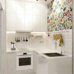 Modern Desain Dapur Minimalis Mungil Sederhana Type 2x2 Warna Cat Putih Terbaru