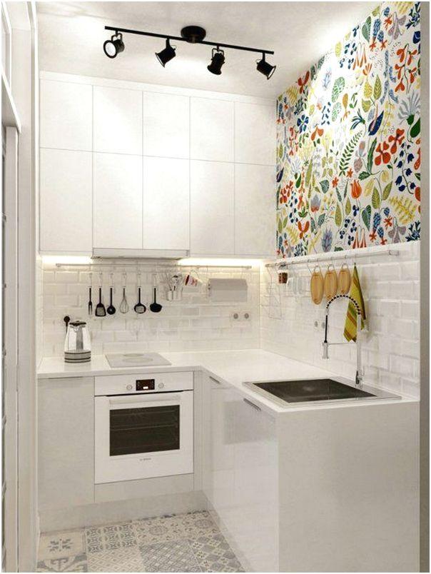 Modern Desain Dapur Minimalis Mungil Sederhana Type 2 Warna Cat Putih Terbaru