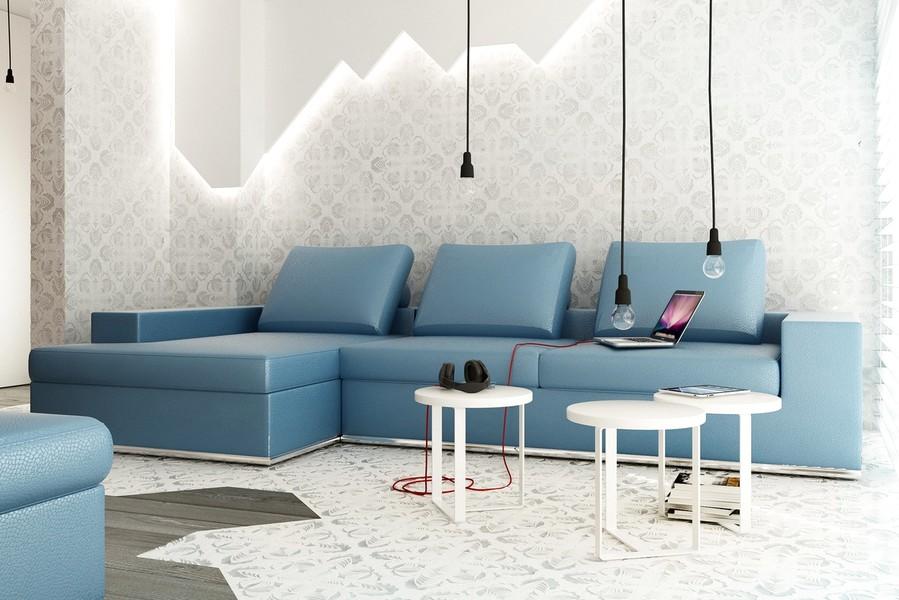Modern Desain Wallpaper Dinding Ruang Tamu Minimalis Elegan Nyaman Stylish Terbaru Terbaik