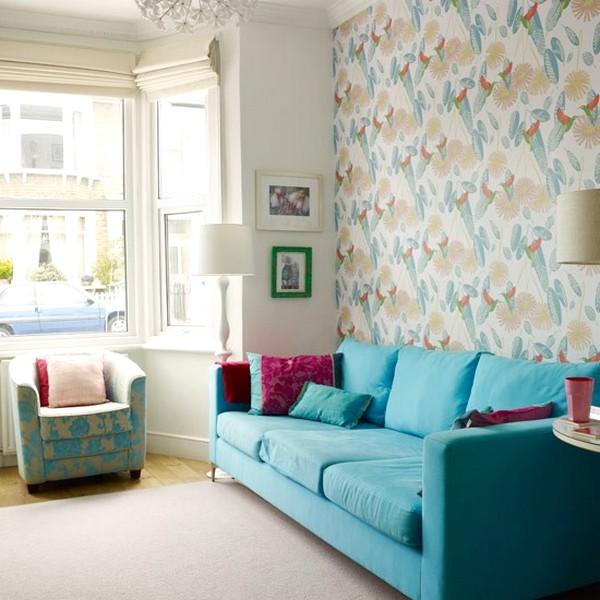 Modern Desain Wallpaper Dinding Ruang Tamu Minimalis Kecil Nyaman Elegan Terbaru