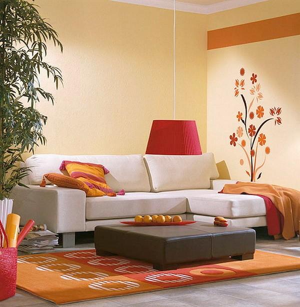 Modern Ide Desain Wallpaper Dinding Ruang Tamu Minimalis Kecil Simple Motif Bunga Elegan Mempesona Cantik Mewah