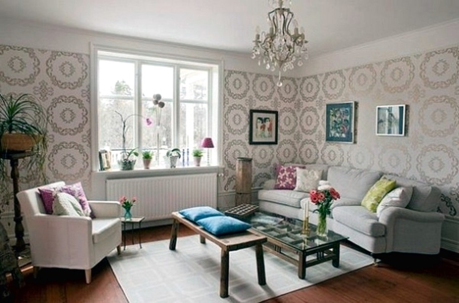 65 desain wallpaper dinding ruang tamu minimalis terbaru for Wallpaper 2016 for living room